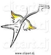 October 6th, 2014: Vector Clipart of a Flying Winged Electric Guitar by TA Images