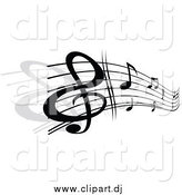 June 30th, 2015: Vector Clipart of a Grayscale Stave and Music Notes by Vector Tradition SM