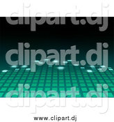 Vector Clipart of a Green Equalizer Bar Fading by Dero