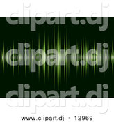 October 16th, 2015: Vector Clipart of a Green Sound Wave Beat over Dark Green by Michaeltravers