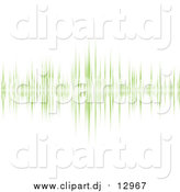 January 12nd, 2016: Vector Clipart of a Green Sound Wave on White by Michaeltravers