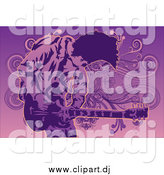 June 1st, 2015: Vector Clipart of a Guitarist Man in Purple by Mayawizard101
