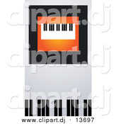 Vector Clipart of a Keyboard on Orange, Black and Gray by Eugene