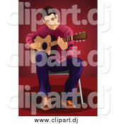 July 23rd, 2015: Vector Clipart of a Male Guitarist Sitting in a Chair by Mayawizard101