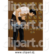 November 4th, 2014: Vector Clipart of a Male Musician Bending over and Playing a Guitar by Mayawizard101