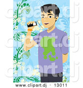 January 27th, 2016: Vector Clipart of a Man Listening to Music Through His Cell Phone by Mayawizard101