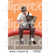 April 25th, 2016: Vector Clipart of a Man Playing an Accordion by Mayawizard101