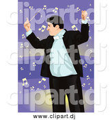May 5th, 2015: Vector Clipart of a Professional Music Conductor over Purple by Mayawizard101