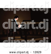 Vector Clipart of a Professional Pianist Man by Mayawizard101