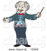 June 6th, 2016: Vector Clipart of a Senior Music Conductor Holding a Baton by Visekart