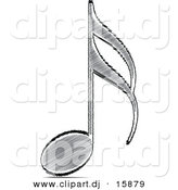 Vector Clipart of a Sketched Music Note by Andrei Marincas