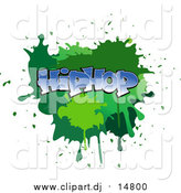 Vector Clipart of a Splatter with Hip Hop Text by Vector Tradition SM