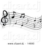 November 6th, 2015: Vector Clipart of a Stave and Music Notes by Vector Tradition SM