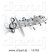 October 8th, 2015: Vector Clipart of a Stave and Music Notes by Vector Tradition SM