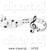 May 11th, 2016: Vector Clipart of a Stave and Music Notes by Vector Tradition SM