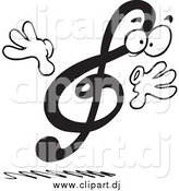 May 19th, 2015: Vector Clipart of a Surprised Treble Clef by Toonaday
