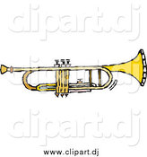 September 4th, 2014: Vector Clipart of a Trumpet by Steve Klinkel