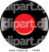 August 17th, 2015: Vector Clipart of a Vinyl Record Album with a Red Label by Pams Clipart