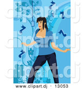 January 16th, 2016: Vector Clipart of a White Musical Woman Singing over Blue by Mayawizard101