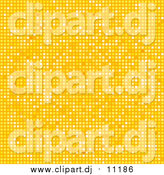Vector Clipart of a Yellow Tiled Mosaic Disco Background by Elaineitalia