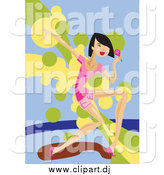 July 5th, 2015: Vector Clipart of a Young Female Singer Dancing and Performing by Mayawizard101
