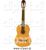 Vector Clipart of an Acoustic Guitar by Rasmussen Images