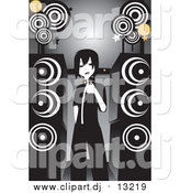 March 5th, 2016: Vector Clipart of an Emo Girl Singing Karaoke by Large Speakers by Mayawizard101