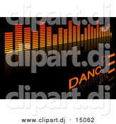 April 5th, 2016: Vector Clipart of an Equalizer and Dance Background on Black by Dero