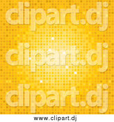 Vector Clipart of an Orange and Yellow Mosaic Disco Background by Elaineitalia