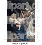 September 18th, 2014: Vector Clipart of Angels Playing Music for a Newborn Baby by JVPD
