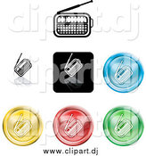 Vector Clipart of Colorful Radio Icon Buttons by AtStockIllustration