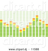 Vector Clipart of Green and Orange Bar Playing on an EqualizerGreen and Orange Bar Playing on an Equalizer by Michaeltravers