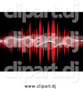 Vector Clipart of Mesh Waves Across a Red Equalizer on Black by Michaeltravers