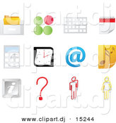 Vector Clipart of Music Note Icon Featured with 11 Office Related Website Icons by Andrei Marincas