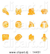 Vector Clipart of Orange Communication Icons by AtStockIllustration