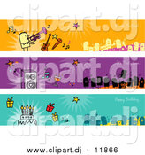 August 22nd, 2015: Vector Clipart of Party People Banners by NL Shop