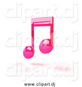 July 11th, 2014: Vector Clipart of Pink 3d Music Notes and Shadow by Julos