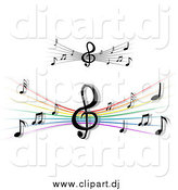 July 17th, 2015: Vector Clipart of Staffs and Music Notes by Vector Tradition SM