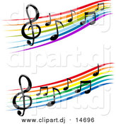 April 15th, 2016: Vector Clipart of Staffs and Music Notes by Vector Tradition SM