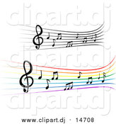 October 9th, 2015: Vector Clipart of Staffs and Music Notes by Vector Tradition SM