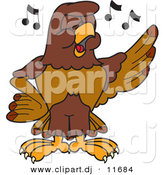 Vector of a Cartoon Falcon Singing by Toons4Biz