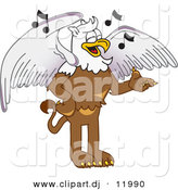 Vector of a Cartoon Griffin School Singing by Toons4Biz