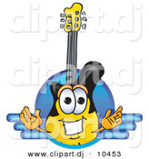 Vector of a Cartoon Guitar Logo V2 by Toons4Biz