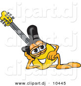 Vector of a Cartoon Guitar Resting His Head on His Hand by Toons4Biz