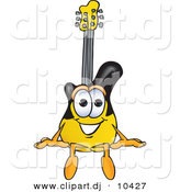 Vector of a Cartoon Guitar Sitting by Toons4Biz