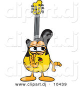 Vector of a Cartoon Guitar Whispering by Toons4Biz
