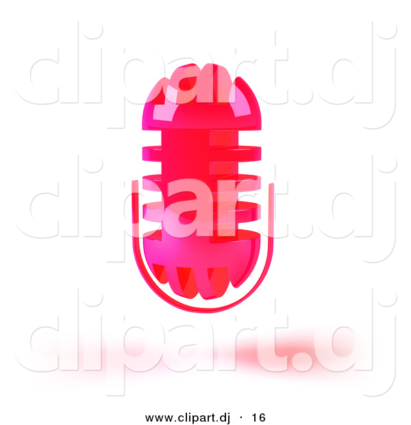 3d Vector Clipart of a Wireless Neon Pink Floating ...
