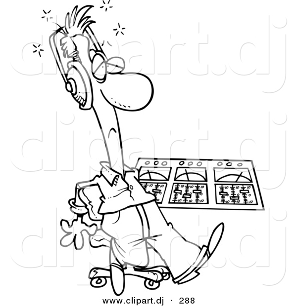 cartoon vector clipart of a coloring page outline  sick