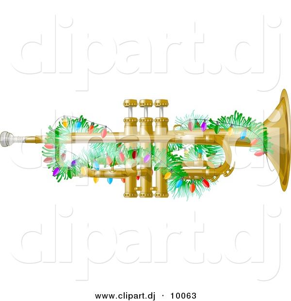 Cartoon Instruments Clipart Clipart of a Cartoon Brass