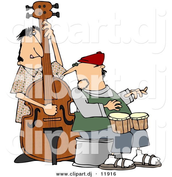 Cartoon Jazz Band Clipart of a Cartoon Jazz